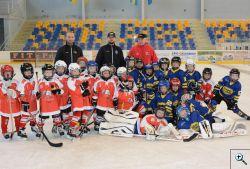 Minihokej - ročník 2010 a 2011 - přípravný zápas s HC Olomouc