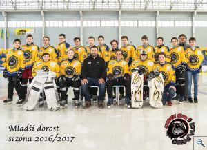 Společné foto dorostu sezóna 2016-2017