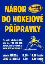 Nábor do hokejového klubu HC Kopřivnice - leták