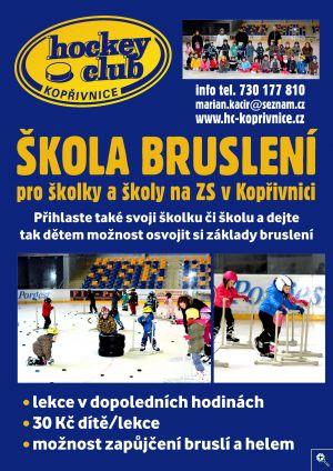 Škola bruslení pro školky a školy v Kopřivnici